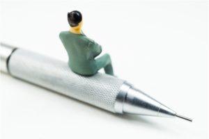 ペンと男性